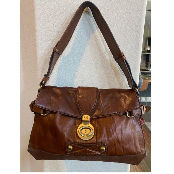 Vintage leather & suede Francesco Biasia bag